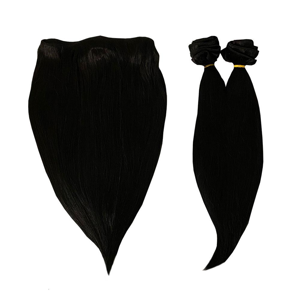 екстеншън черна коса